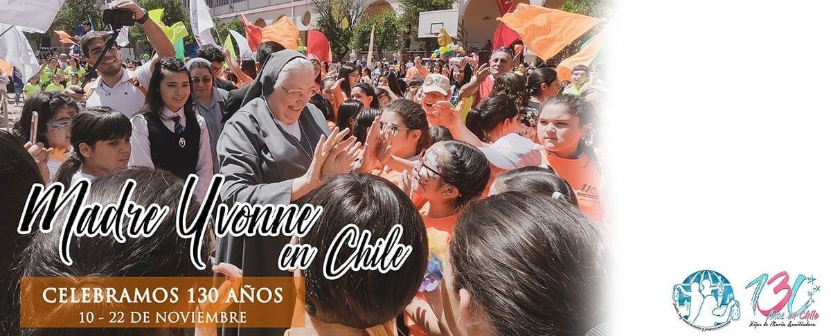 Visita di Madre Yvonne Reungoat in Cile